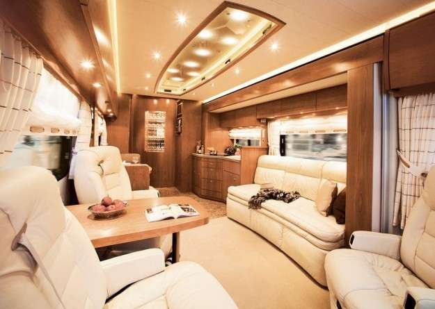 What is a luxurious mobile home?