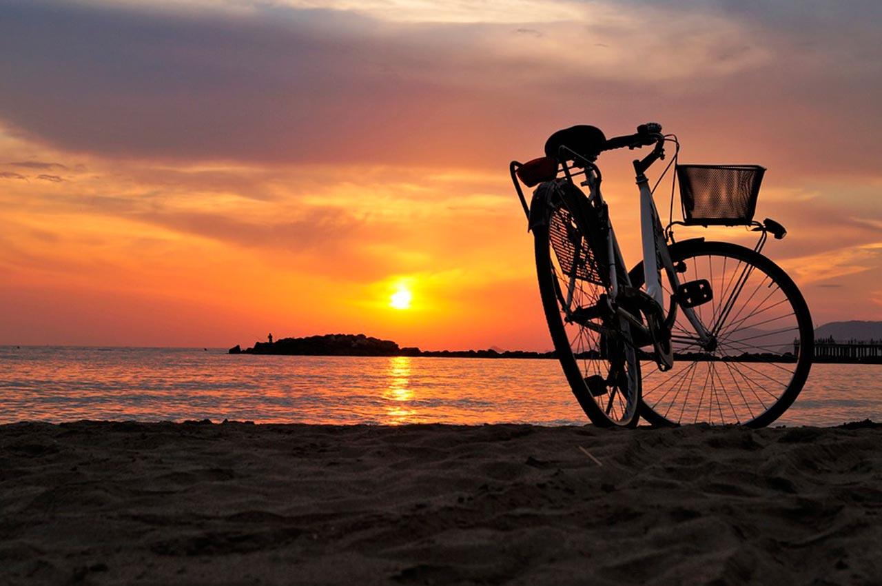Rutas en bici por la playa