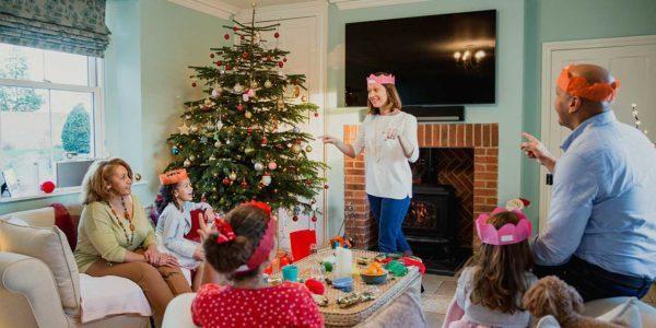 Juegos de navidad en familia