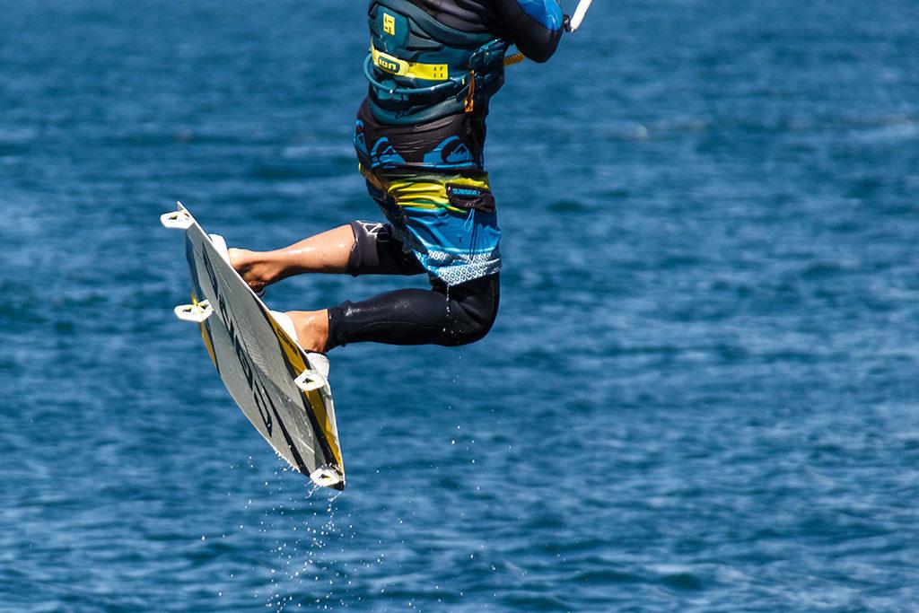 Some acrobatics while doing jet skiing in Benidorm