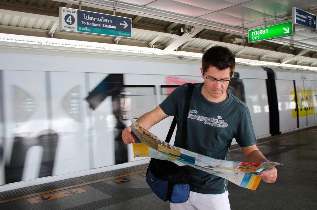 Paradas del tren turístico en Benidorm