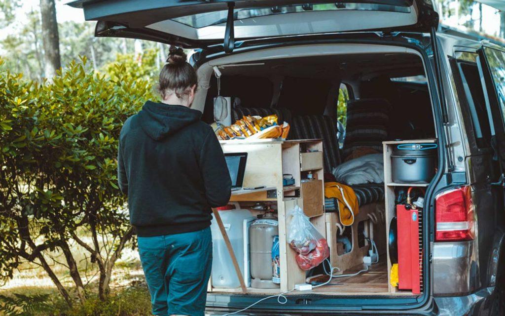 furgoneta para ir de camping