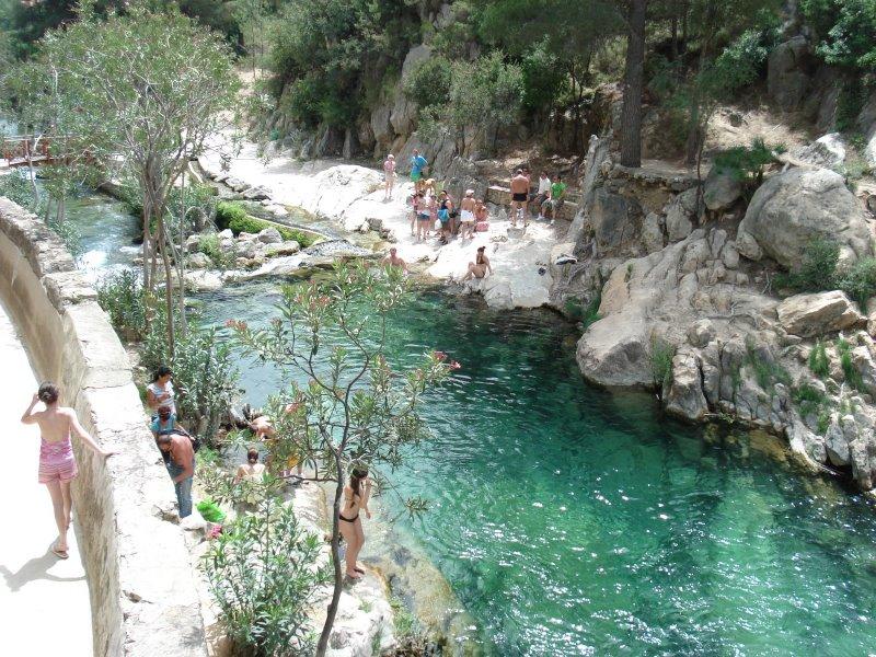 Algar waterfalls in Benidorm