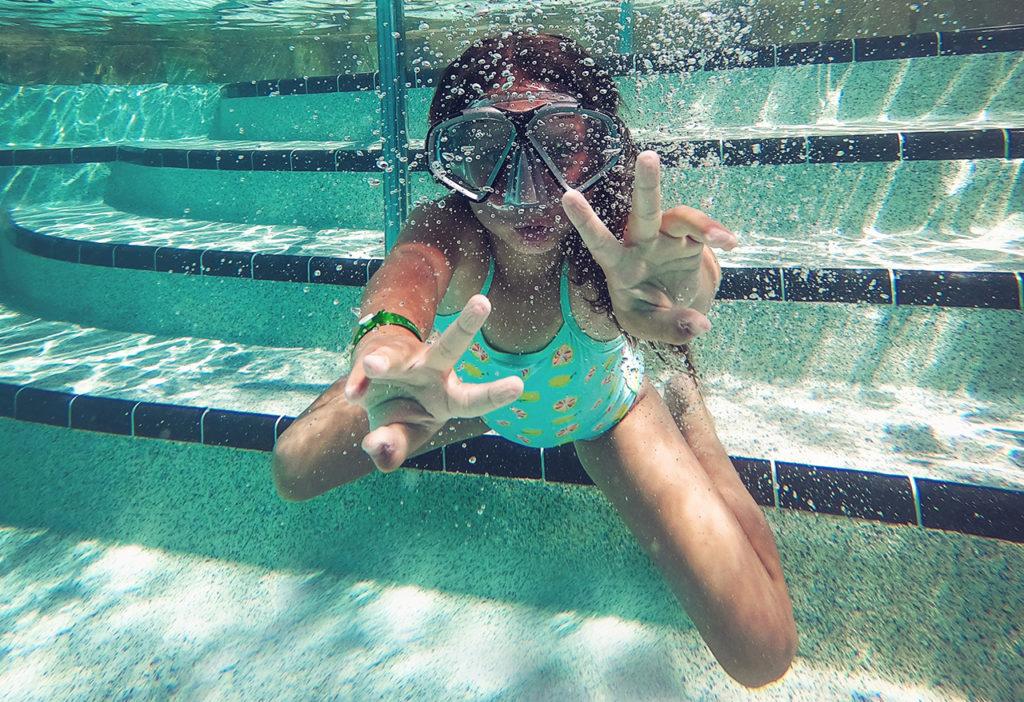 Gafas como aprender a nadar