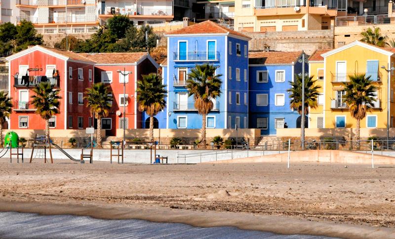 Casas de colores que ver en Villajoyosa