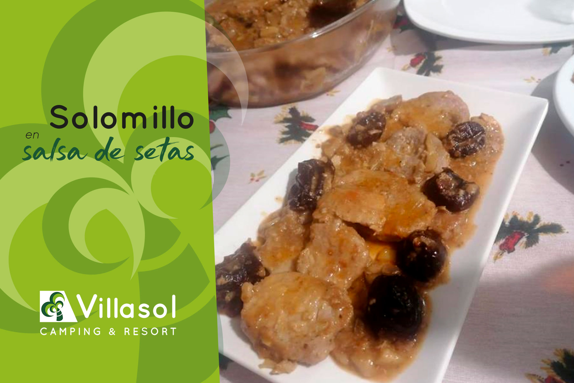solomillo en salsa de setas Villasol