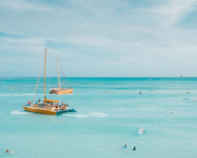 Catamarán en Benidorm.